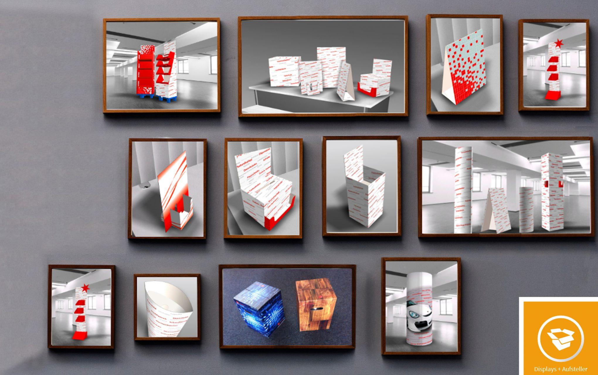 Displays + Aufsteller